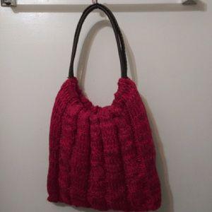 Crocheted Pink Murval Paris Bucket Handbag